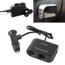 2 Way автомобильный сигаретный светильник er+ светодиодный светильник переключатель автомобильный сплиттер разъема зарядное устройство USB 12 В/24 В автомобильный прикуриватель адаптер