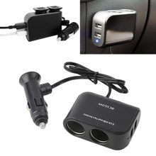 цены на 2 Way Car Cigarette Lighter +LED Light Switch Auto Socket Splitter Charger USB 12V/24V vehicle lighter adapter  в интернет-магазинах