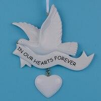 في قلوبنا للأبد الراتنج الحرفية شخصية الهدايا التذكارية شجرة الحلي ليوم الزفاف ديكور المنزل