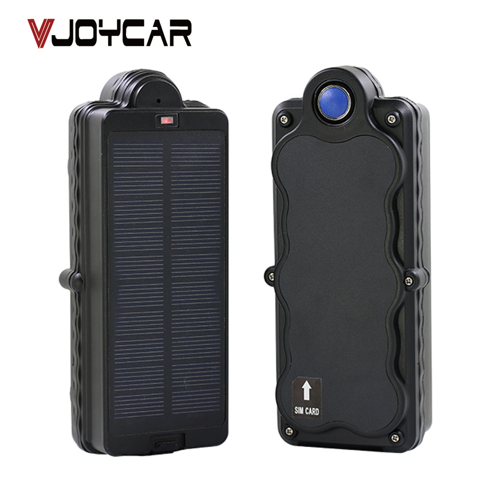 VJOYCAR Solar GSM GPRS GPS Tracker Locator 5000mAh Rechargeable Removable Battery Waterproof Tracking Device FREE Software APP rf v8 direct factory high efficiency gps tracker tracking device 4 band gsm gps gprs car vehicle motorcycle alarm