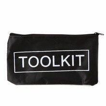 Thinkthendo черный Водонепроницаемый tool kit мешок 600D Оксфорд Гаечные ключи сумка на молнии инструмент для хранения случае Ножницы сумка