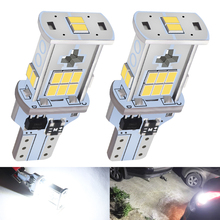 2pcs T15 W16W 921 912 LED Bulbs CANBUS Reverse Light 2016 SMD 18 Chips High Power White Auto Car Motor Wedge Backup Lamp DC 12V цены онлайн