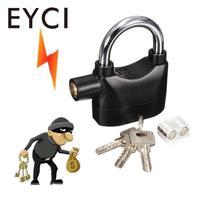 Bike Security Alarm Lock Bicycle Cycling Anti Theft Siren Padlock With Keys