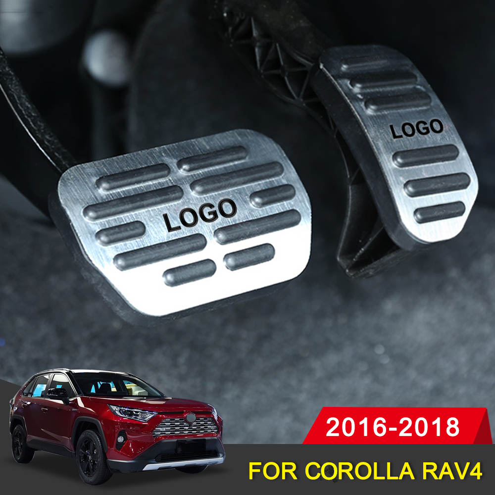 Auto Pedal Cover for Toyota Corolla RAV4 2016 2018 Car Accerator Gas Fuel Brake Pedal Cover Set Interior Decorative Accessories-in Pedals from Automobiles & Motorcycles