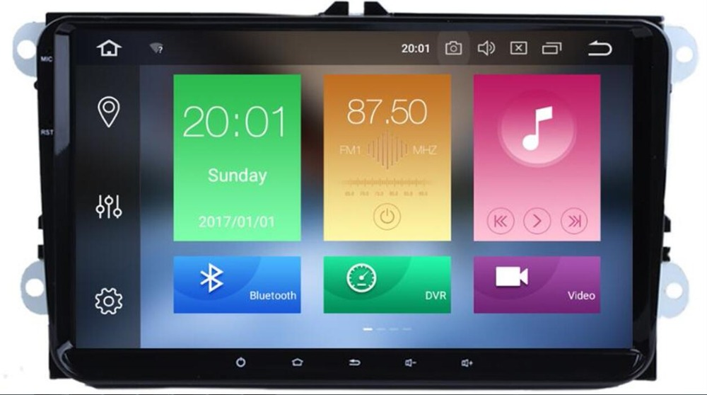 2 Din Android 8.1 voiture Audio lecteur DVD lecteur GPS Radio pour VW GOLF 6 Polo Bora JETTA B6 PASSAT Tiguan SKODA OCTAVIA OBD caméra