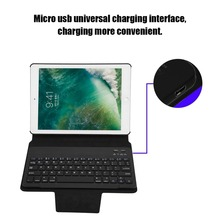Ultra Thin Wireless Bluetooth Compact Keyboard Case Size Full Body Protective Keyboard Case Suitable For iPad Air 1/2/Pro 9.7
