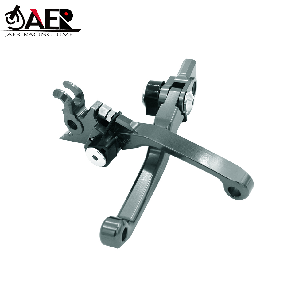 JAER Motorcycle CNC Pivot Brake Clutch Levers For Yamaha YZ426F YZ450F YZ250F 2009 2019 YZ450FX 2019-in Levers, Ropes & Cables from Automobiles & Motorcycles