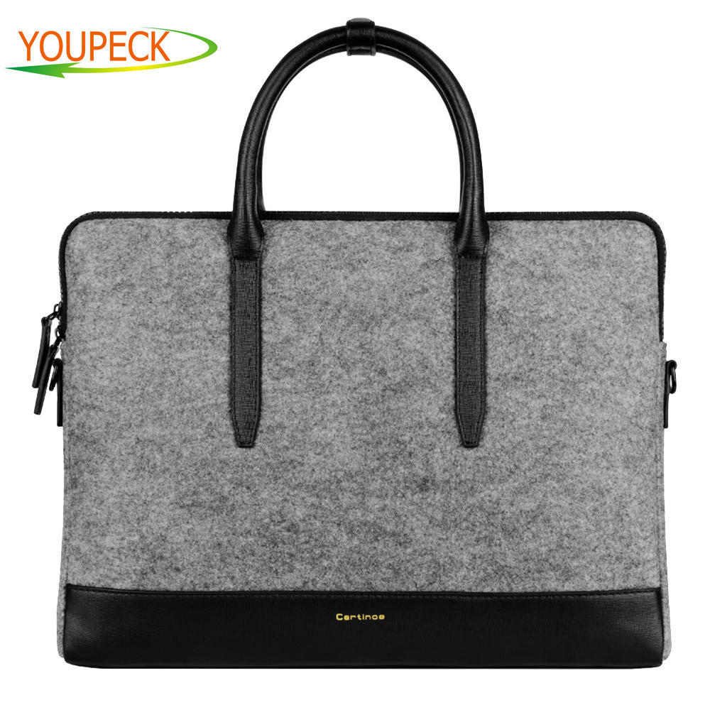 Cartinoe 11 13 15 inch Laptop Shoulder Bag Men Women Messenger bag Lady  Wool Felt Handbag Carrying Case Computer Sleeve Bag 5fe53c05e1