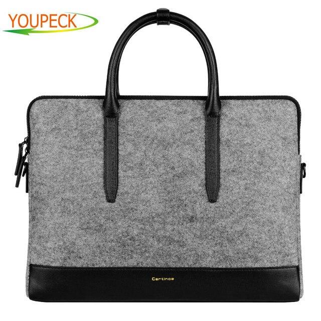 Cartinoe 11 13 15 Inch Laptop Shoulder Bag Men Women Messenger Lady Wool Felt Handbag