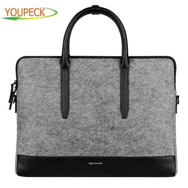 Cartinoe 11 13 15 дюймов Сумка для ноутбука Мужская женская сумка-мессенджер  Женская шерстяная фетровая 77918ce6b13