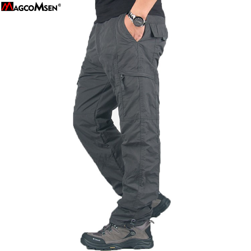 Magcomsen Pants Men Winter Double Layer Men'S Cargo Pants Baggy Pants For Men Military Tactical Pants Fleece Trousers Ag-Ty-02