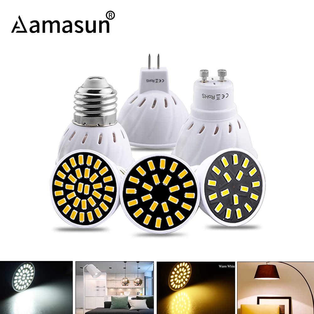 Светодиодная лампа-прожектор, E27 GU10 MR16 СВЕТОДИОДНАЯ Лампа 220 V 5 Вт, 7 Вт, 9 Вт, 18, 24 месяцев и 32 светодиода 5733SMD энергосберегающие Bombillas lampada для домашнего освещения