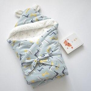 Image 4 - เด็ก Discharge ซองจดหมายสำหรับทารกแรกเกิดผ้าฝ้ายผ้าห่มเด็กนุ่ม WARM สำหรับ Baby GIRL BOY 80x80cm