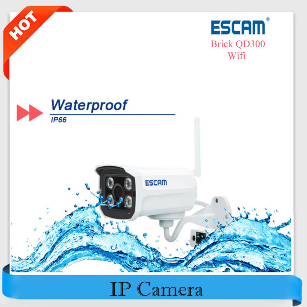 imágenes para Ladrillo Escam QD300 Wifi Mini IP Cámara 720 P H.264 IP cámara Wi-fi Visión Nocturna P2P 1.0MP IR-CUT CCTV de Vigilancia de Seguridad cámara
