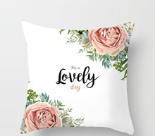 Valentine's Day gift love rose flowers sofa pillow cushion peach skin pillowcase home hotel decoration