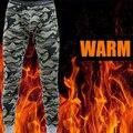2015 inverno homens long johns estilo da camuflagem do exército de impressão térmica roupa interior de algodão sexy quente ceroulas cuecas legging apertado