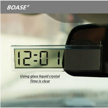 Car Digital Electronic Clock Mounted On Windscreen Dashboard