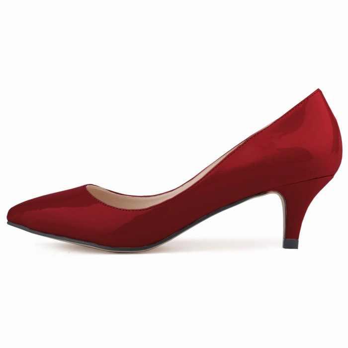 Kadın Ayakkabı Temel Ince Topuklu Yüksek Topuklu Düğün Ayakkabı Pompaları Sevgililer Ayakkabı Kadın Pompaları Gerçek Slip-on Bahar/ sonbahar Moda