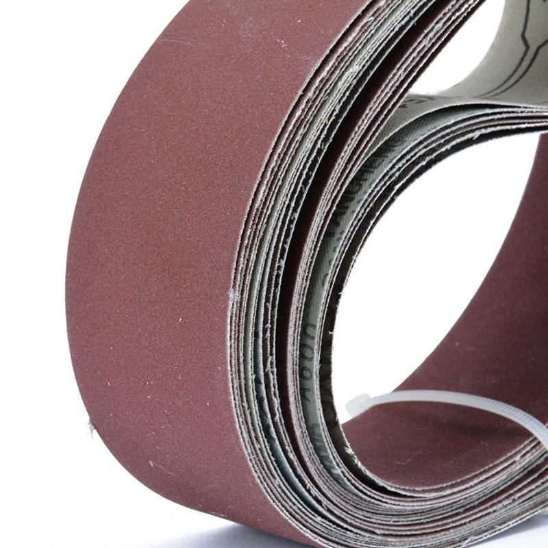6pcs 2 X 72 Fine Grit Sanding Belt Sandpaper Sander Abrasive Band 5x 182cm Tools