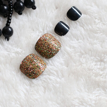 2019 24pcs toenails fashion glitter handmade nails can be customized