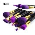 Vander 15 pcs Pincéis de Maquiagem Profissional Set Make Up Brush Pó de Alta Qualidade Fundação Sombra de Olho Pincel de Lábios Para A Beleza