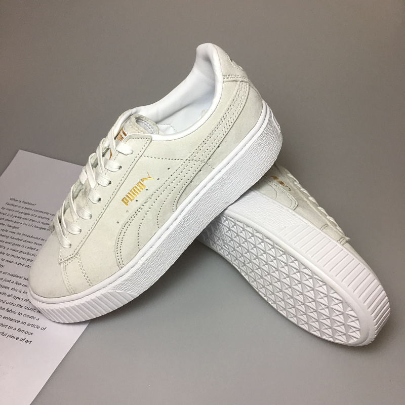2018Genuine PUMA x FENTY SuedeCleated Creeper Men s Women s Second  Generation Rihanna Classic Basket Tone Simple Badminton Shoes-in Badminton  Shoes from ... 30b84af0b