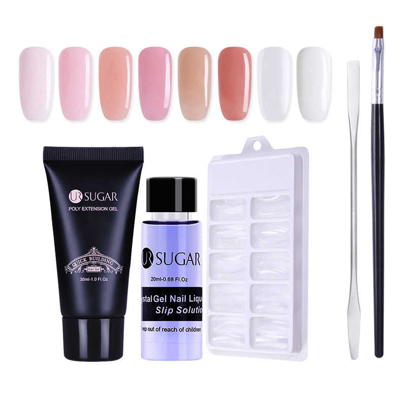 Ur Suiker 30 Ml Poly Extension Gel Vinger Uitbreiding Crystal Jelly Nail Uv Led Hard Gel Acryl Builder Nail Art gel
