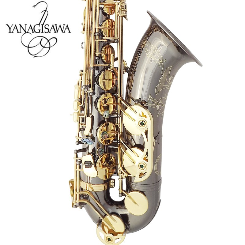New Japan Yanagizawa W037 black nickel gold key B flat tenor saxophone YANAGISAWA professional grade tenor saxophone 2018 japan yanagisawa new tenor saxophone t 992 b flat tenor saxophone gold key yanagisawa sax with accessories professionally