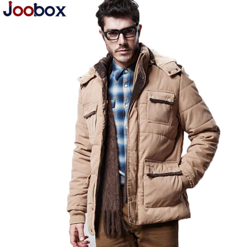 ФОТО Classic Winter Warm Jackets And Coats For Men 2016 Joobox Brand Winter Mens Fashion Warm Down Parka Cotton Coat MC1650