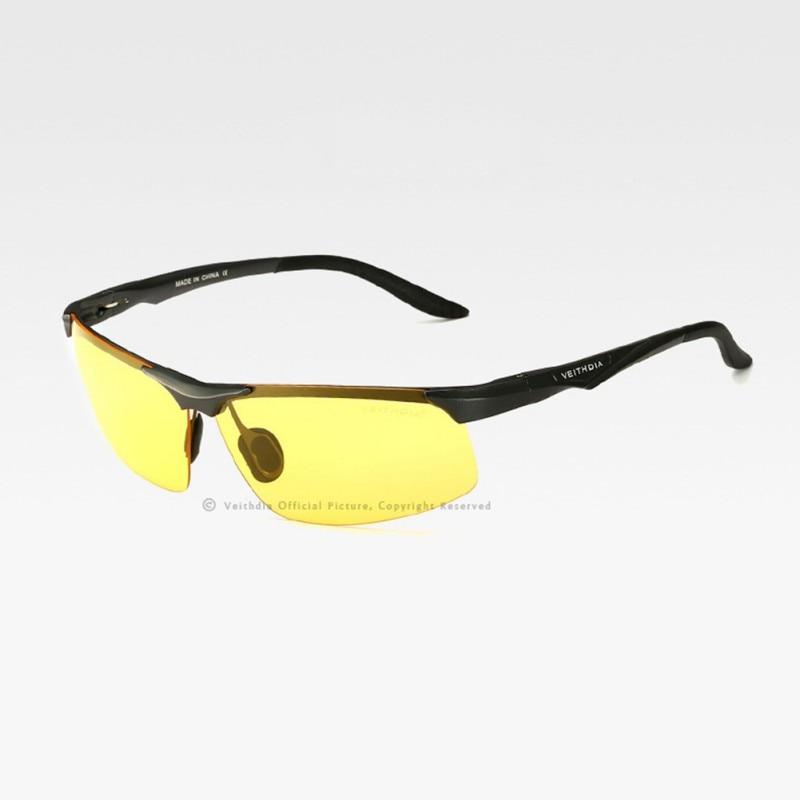 Mode Chic Mens Veithdia UV 400 Polarisées lunettes de Soleil Sans Monture  Conduite Lunettes Pour Conduite Hommes 0267e3d431bb