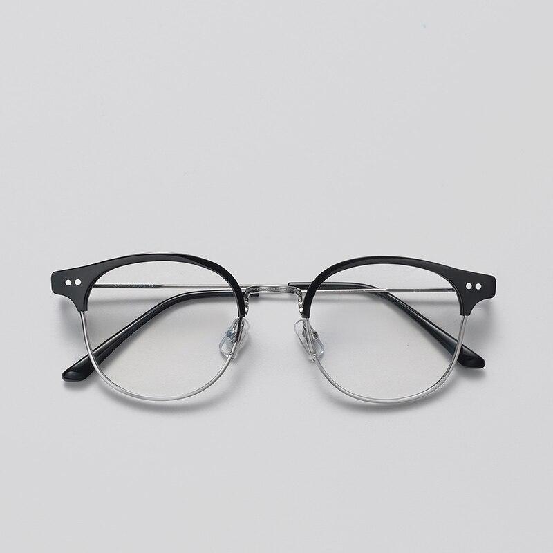 2019 Classique Alio Rivet lumière Demi Cadres Lunettes Vintage Rétro Cadre homme femme Clair monture de lunettes Lunettes oculos de grau