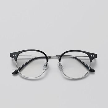 157d54eeb3 2019 clásico Alio remache luz medio marcos gafas Vintage Retro marco hombres  mujeres claro gafas oculos de grau