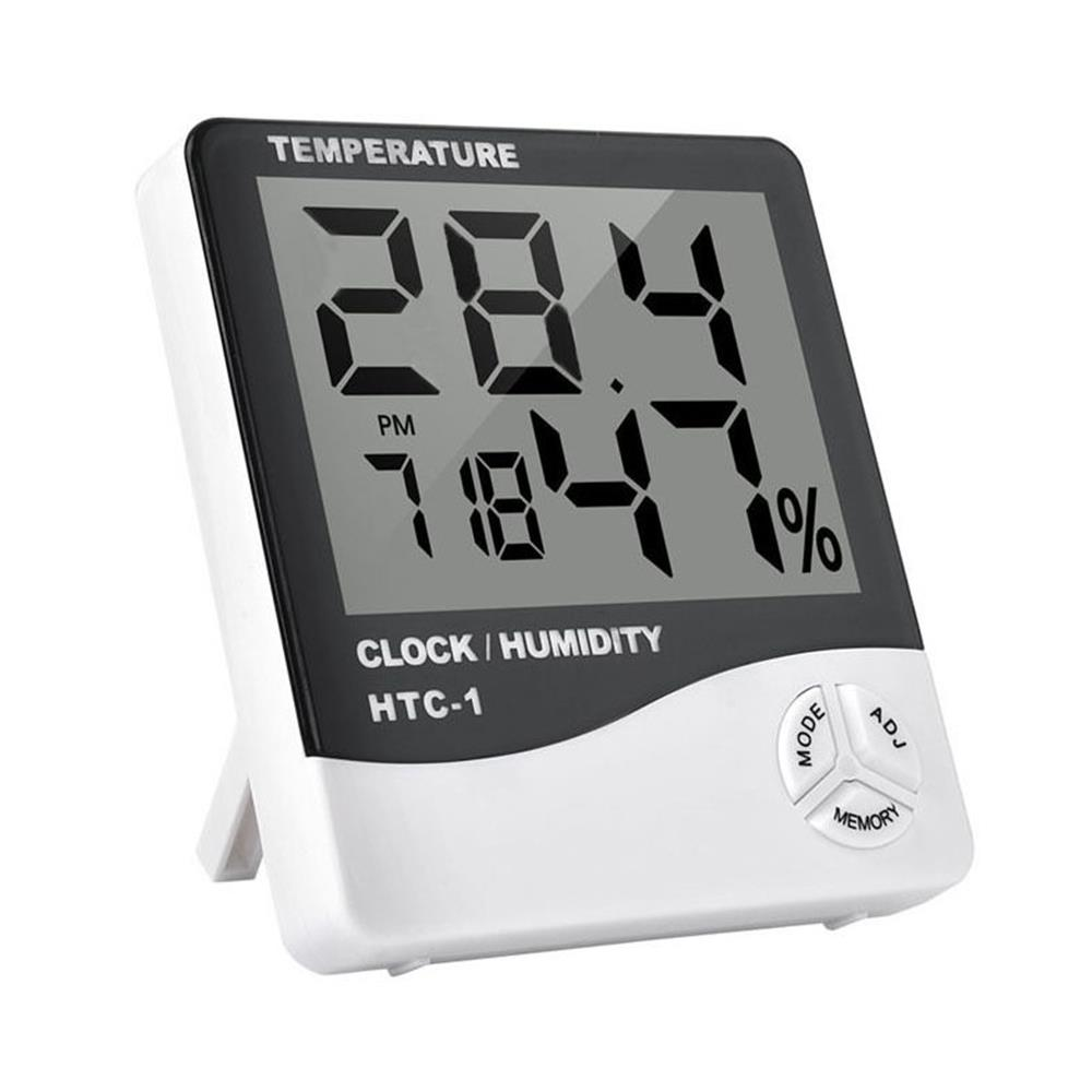 Electronic Hygrometer Temperature Meter Household Clock Durable Indoor Thermometer Accurate Digital LCD Can Set The Alarm Time