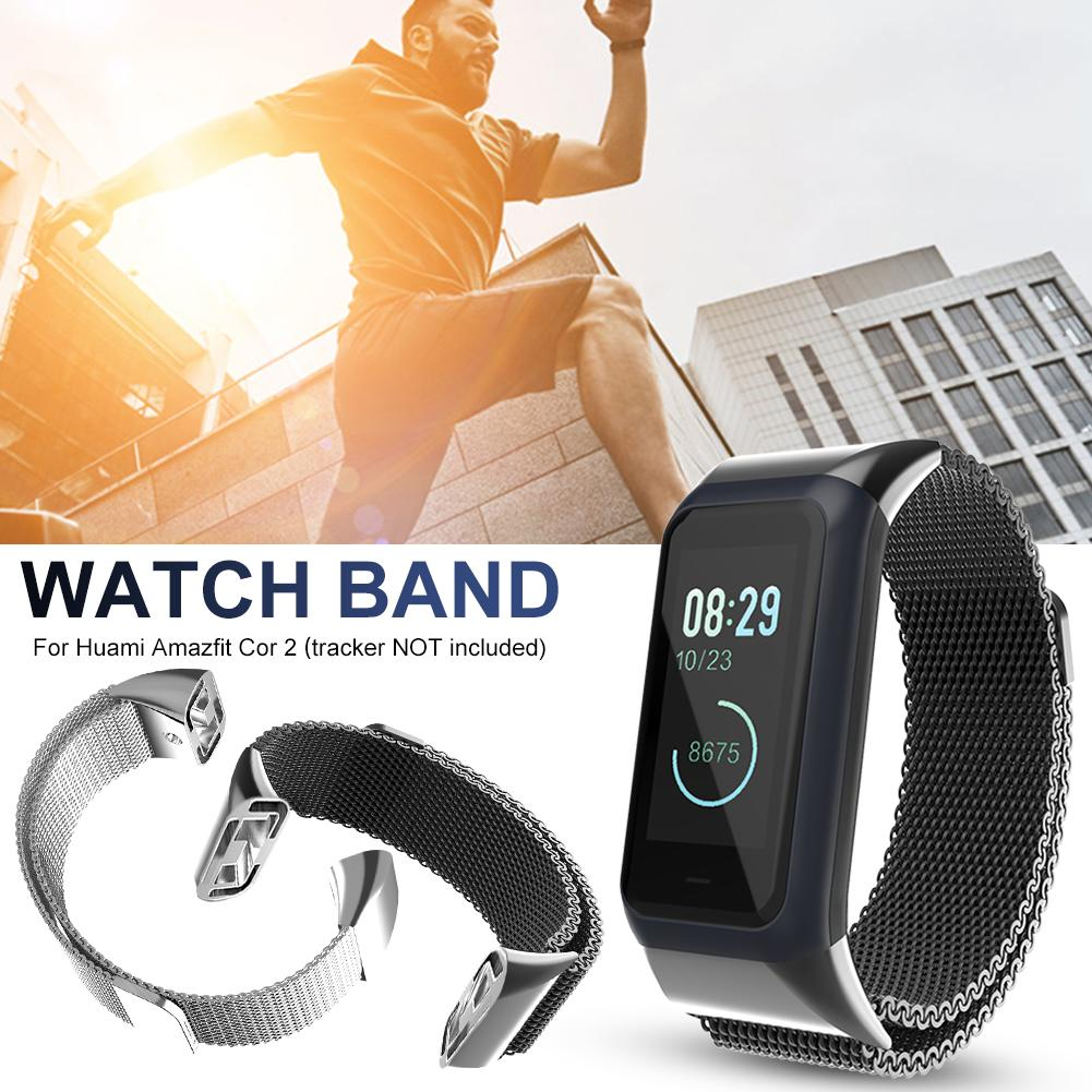 New Smart Watch <font><b>Strap</b></font> For Huami <font><b>Amazfit</b></font> <font><b>Cor</b></font> <font><b>2</b></font> Smart Bracelet Replacement Metal Milan Stainless Steel Watch Bracelet <font><b>Strap</b></font> Band image