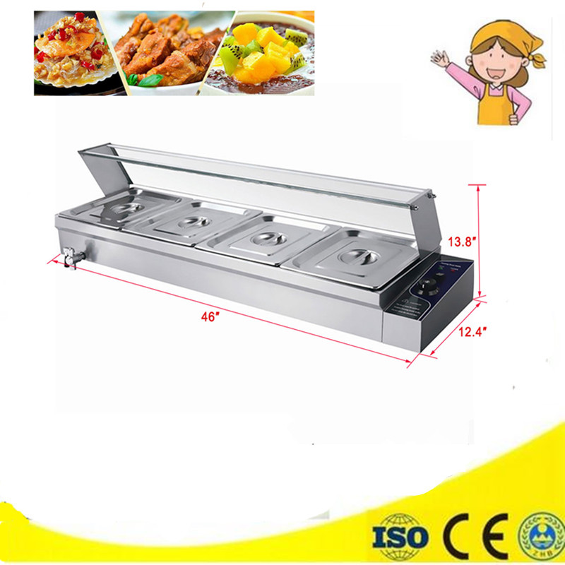 1 Piece 4 Pans Commercial Use Bain Marie Food Warmer Hot Soup Warming  Container Buffet Tool On Sale comment on se marie