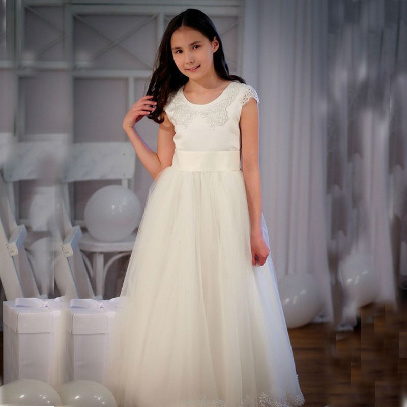 A-Line Aqua Dresses for Girls Lace First Communion Dresses Tulle Holy Communion Dresses vestidos de comunion 2-12 Year Old  цены