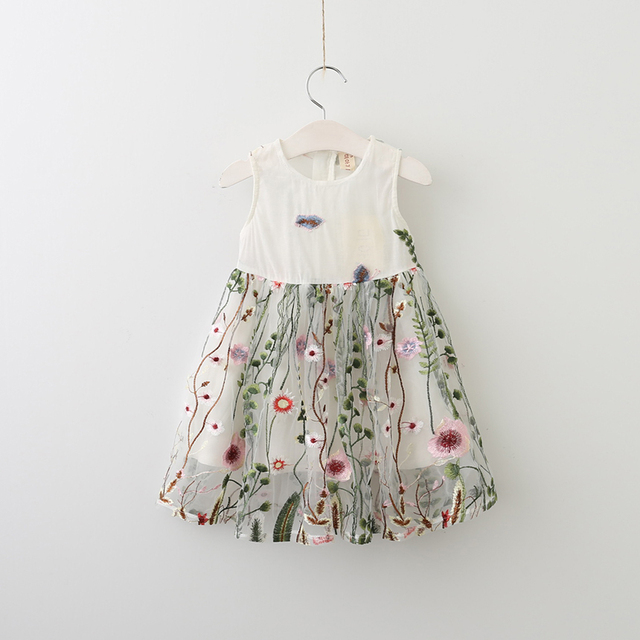 fb951753956bb US $66.3 |Baby Lolita Children Princess Mesh Clothes New Spring Summer  Sleeveless Girls Embroidery Dresses Flower Floral Clothing 5pcs/LOT-in  Dresses ...