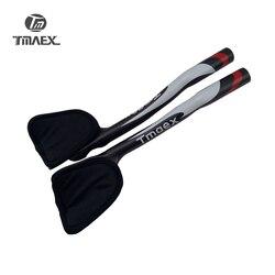 Nowy TMAEX reszta Bar TT kierownica pełna węgla reszta kierownica rower szosowy TT Bar części rowerowe TT kończy kierownica czerwony matowy w Kierownice rowerowe od Sport i rozrywka na