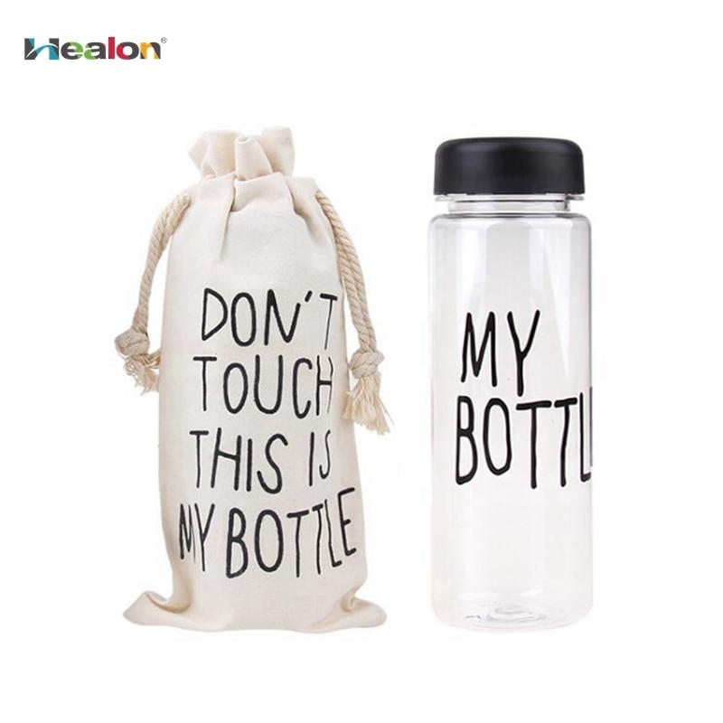 Healon My Bottle 500Ml Sport Fruit Lemon Juice Drinking Bottle Fashion Clear Plastic Water Bottle For Best Gift