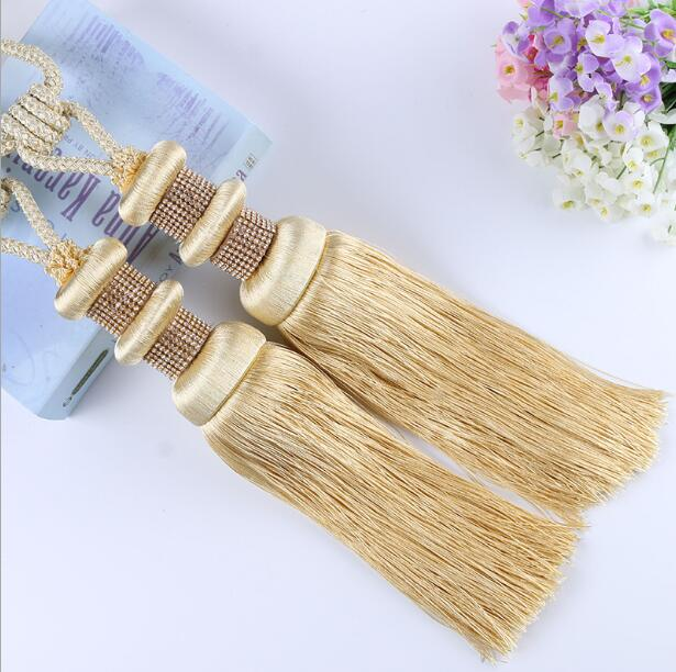 High quality Curtain Tassel Tieback Clips Buckle Hanging Ball Tie Back Straps <font><b>Holders</b></font> Accessories Home Decoration