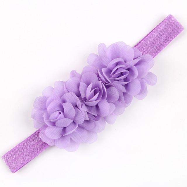 1PC  Flower Headband Children Headwear Pearl Infant Toddler Girls Headbands Kids Hair Bands Accessories w-01 4