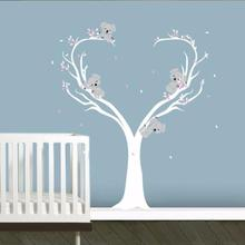 Koala Family on White Tree Branch Vinyls Wall Stickers Decals