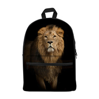 New 2017 Kawaii canvas Backpack for Girls Fashion Children School Bag Cute Animal lion Backpack Kids School Backpack