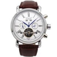 JARAGAR Big Dial Complete Calendar Men S Watch Leather Strap Mechanical Wristwatch Male Clock Relojes Hombre