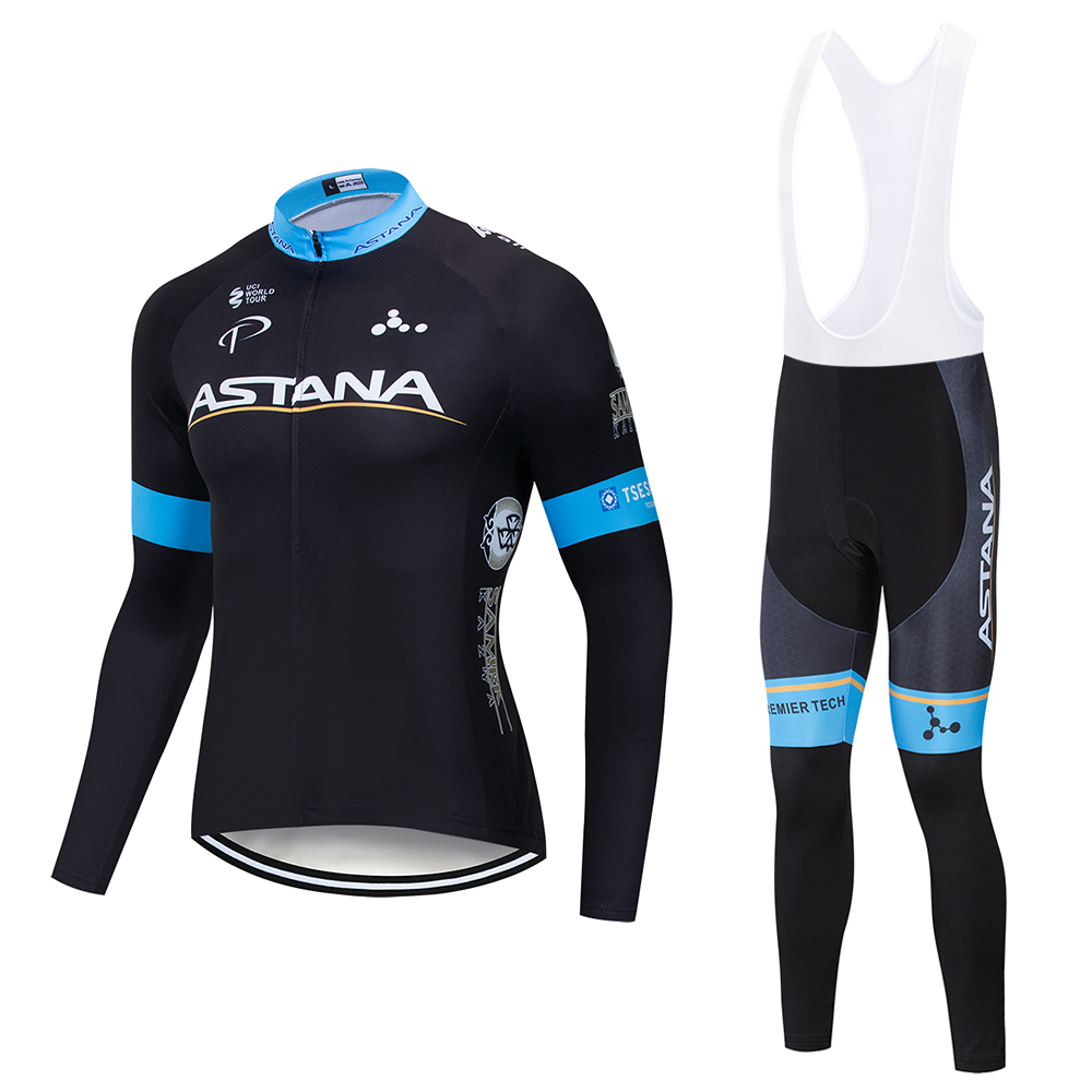 2019 ASTANA Team Cycling Shirt 9D Pad Cycling Pants Cycling Clothing Men Spring / Autumn BIKE Cycling Gear Jersey2019 ASTANA Team Cycling Shirt 9D Pad Cycling Pants Cycling Clothing Men Spring / Autumn BIKE Cycling Gear Jersey