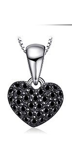 HTB1W4kTblKw3KVjSZFOq6yrDVXaJ JPalace Love Heart Genuine Black Spinel Stud Earrings 925 Sterling Silver Earrings For Women Korean Earings Fashion Jewelry 2019