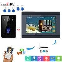 SmartYIBA 7 LCD WIFI Wireless RFID ID Card Wired Video Visual Door Phone Doorbell Intercom Camera System with Night Vision APP