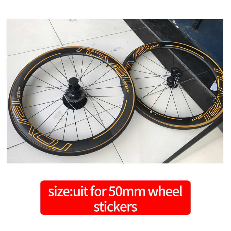 ROVAl CLX50 roues autocollants pour vélo de route 700C vélo roval carbone pneu décalcomanie costume pour 50mm profondeur deux roues décalcomanies
