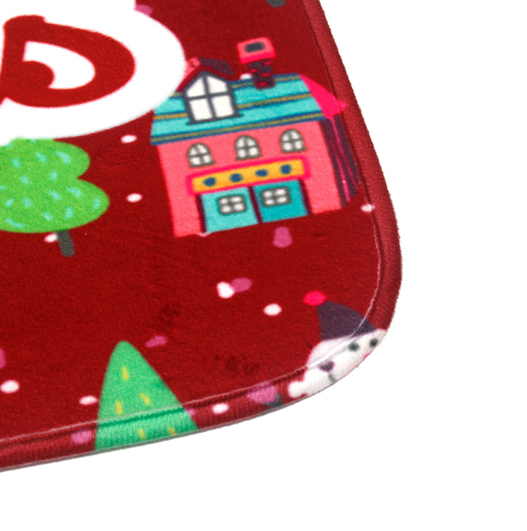 FENGRISE Merry Christmas Door Mat Santa Claus Flannel Outdoor Carpet Christmas Decorations For Home Xmas Party Favors New Year 9