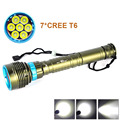 2016 New LED Diving flashlight 7 x CREE XML T6 12000LM LED Flashlight linternas Underwater 100M Waterproof  Lamp Torch